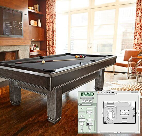 Billiard Factory Pool Tables Game Room Furnishings And More - How much room for a pool table